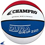 Champro Super Grip Rubber Basketball Men's White/Blue/Red