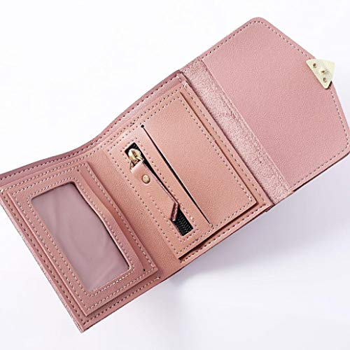 Shaped Wallet Heart Card Student Short EUzeo Wallet Fashion Pink Package Women qwTWRXa