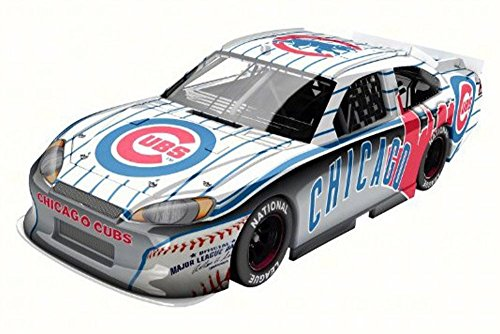 Lionel Chicago Cubs 2012 Ford Fusion, White w/ Blue Pin Stripes NASCAR - 1/24 Scale Diecast Model Toy Car