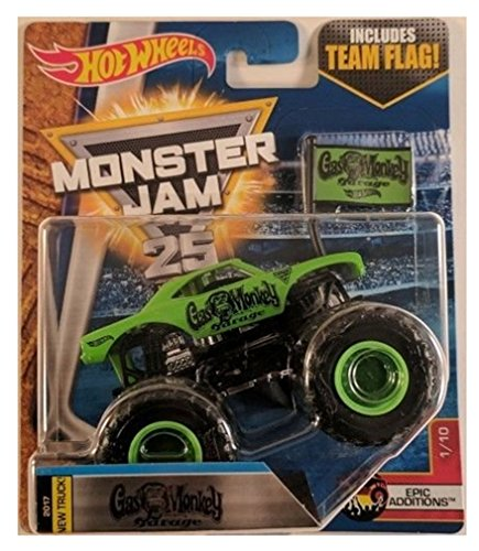 Hot Wheels Monster Jam 1:64 Gas Monkey Garage with Team Flag GMG tv show  2017