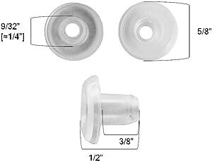 "QTY 12 Horizontal Blinds Bottom Rail Ladder Cord Button Plug 9/32"" , 1/2"", 3/4"" (9/32"")"