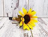 Sunflower Burlap Wedding Guest Book Pen, Rustic Wedding Pen, Shabby Chic Wedding Pen, Burlap Flower Pen, Wedding Pen, Sharpie Guest Book Pen
