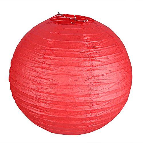 """Cade10"""" Red Round Paper Lantern - (10 Pack)"""