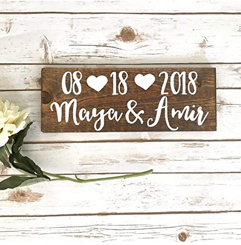 CELYCASY Save The Date Photo Used Wedding Decor Wooden Sign Rehearsal Dinner Decorations i do BBQ Decorations Rustic Wedding Anniversary Engaged ()