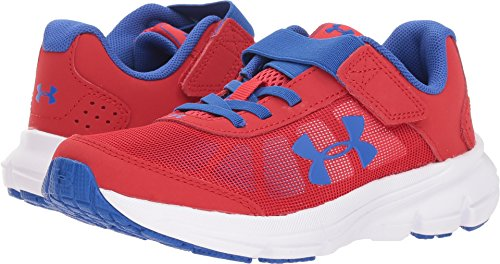 Under Armour Boys' Pre School Rave 2 Adjustable Closure Sneaker, Red (600)/White, ()