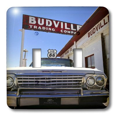 (3dRose lsp_92715_2 Budville New Mexico United States Route 66 Us32 Jmr0800 Julien Mcroberts Double Toggle Switch)