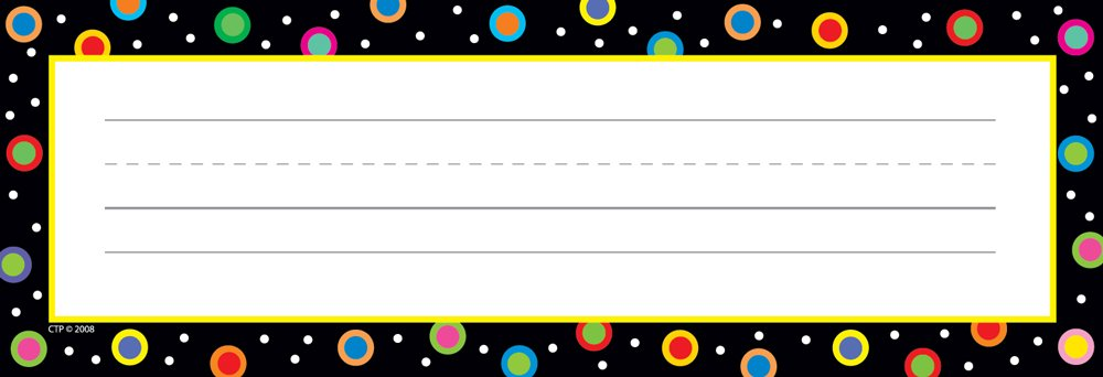 Creative Teaching Press Dots on Black Name Plates (4499)