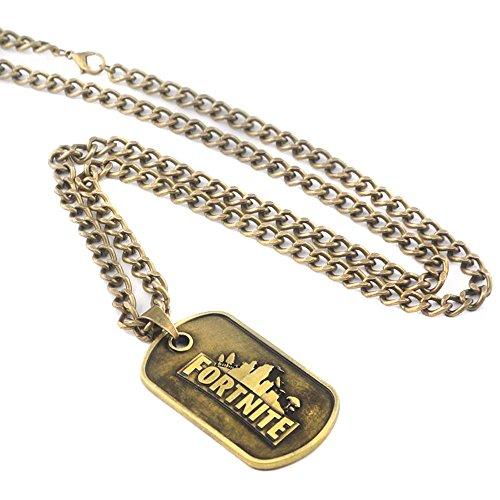 Dolovely Fortnite Logo Battle Royale Game Necklace Dog Tag Pendant Necklace by Dolovely (Image #4)