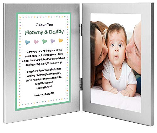 New Parents Gift Sweet Poem from Daughter Add Photo to Frame (Baby Girl Poems From Mommy And Daddy)