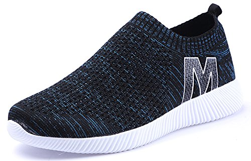 On Walking Fitness Jogging Running Trainers b Men Tennis Slip Lightweight Black Shoes Knitted Shoes Fly Women Gym Training Yoga Shopping Casual Trekking for Driving Sneakers Shoes blue 06n0rq
