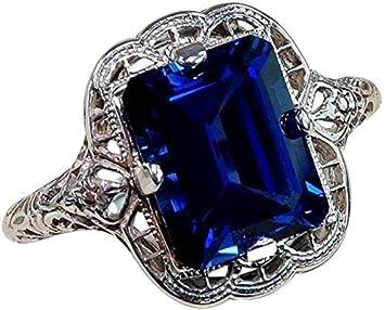 Purple #7 Huge Natural 3.5Ct Tanzanite 925 Silver Ring Women Wedding Engagement