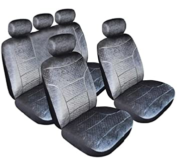 Mazda 6 Domino Full Set Of Car Seat Covers In Grey 5 Headrest Covers