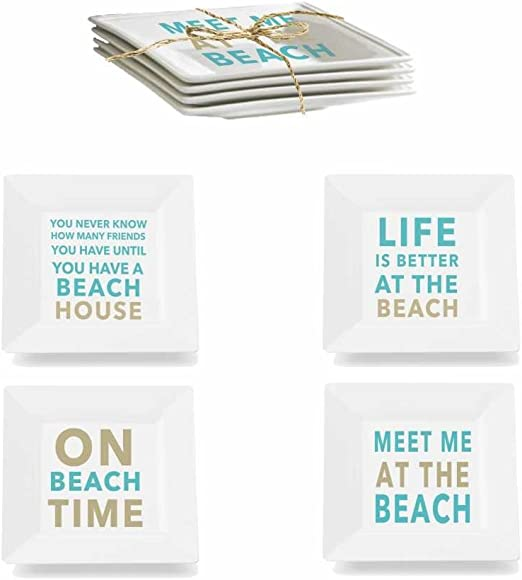 Melamine Plates Blue 4 Paperproducts Design 50000 at The Beach Set
