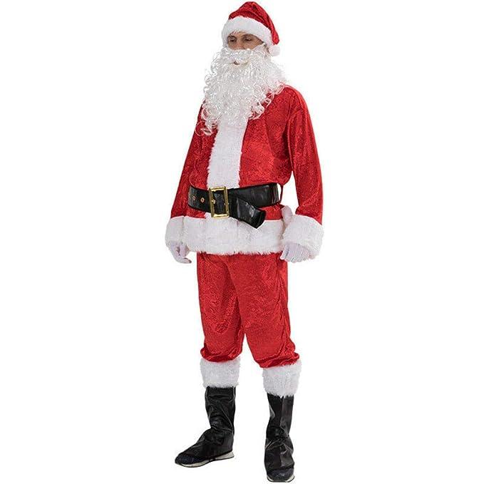 CHANGL Traje de Papá Noel de Navidad Cosplay Ropa de Papá ...