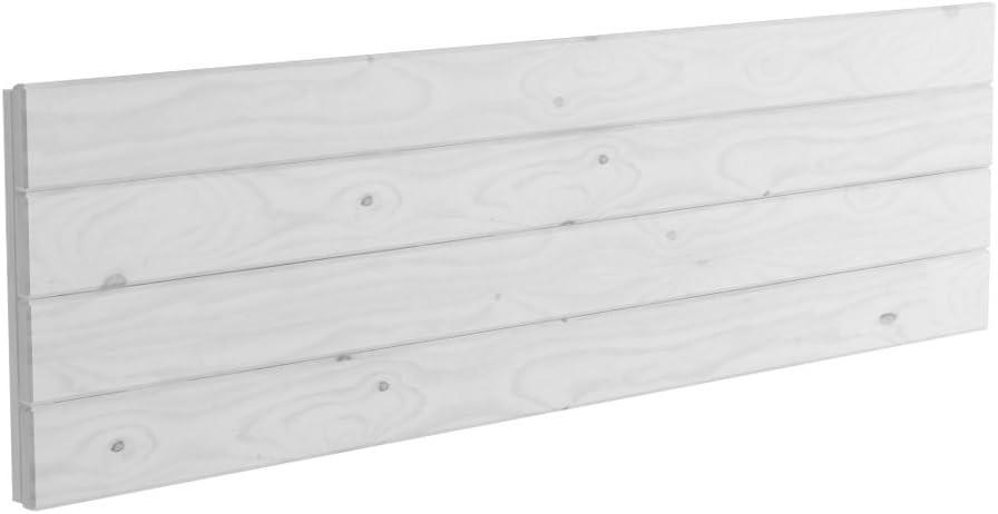 Lufe Testa 4 Cabecero de Pared Madera Blanco n/órdico 100x4x44 cm