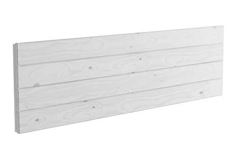 Lufe Testa 4 Cabecero de Pared, Madera, Blanco nórdico, 160x4x44 cm