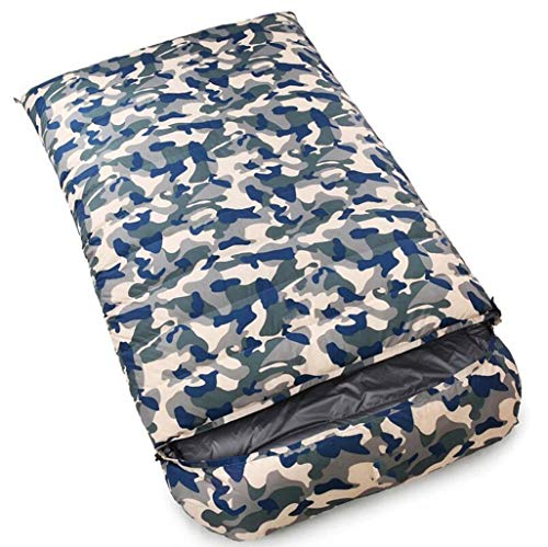 FGSJEJ Outdoor Four Seasons Camping Keep Warm Down Sleeping Bag,Envelope Double Sleeping Bag (Color : Camouflage 2, Size : 6KG)