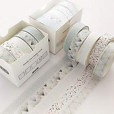 NCEHCS 5 unids/pack Blue Ocean Washi Tape Set Decoración Etiqueta ...