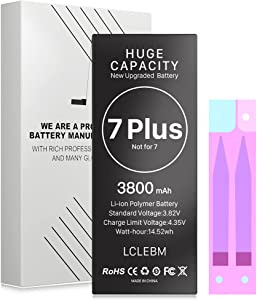 [3800mAh] Battery for iPhone 7 Plus Upgraded High Capacity Replacement Battery for iPhone 7 Plus A1661/A1784/A1785 [Not for 7] Without Repair Tool Kit