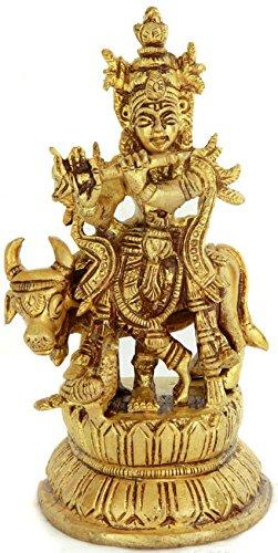 Bhagawan Krishna - Brass Statue