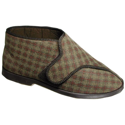 GBS Keswick Touch Fastening Bootee/Mens Slippers/Mens Bootee (9 US) (Brown) ()