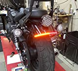 Yamaha Bolt Fender Eliminator LED Turn Signal Kit - Red Turns with Clear Lens