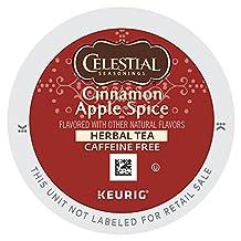 Celestial Seasonings Cinnamon Apple Spice Herbal Tea K-Cup for Keurig Brewers, 96-Count