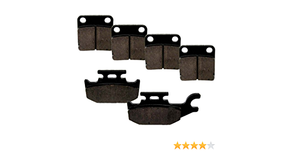 Brake Pads for Yamaha Wolverine YFM450 4x4 2006-2010 Front /& Rear by Race-Driven