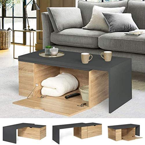 Table basse rotative 360° contemporaine Lizzi