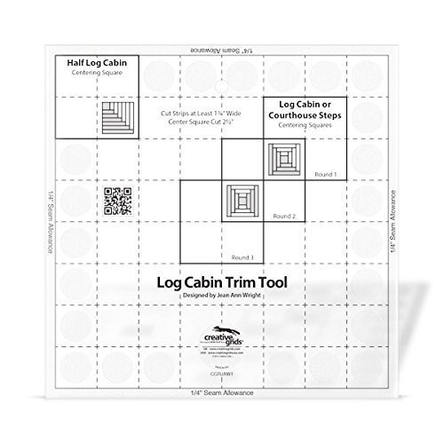 - Creative Grids Quilt Ruler Log Cabin Trim Tool for 8