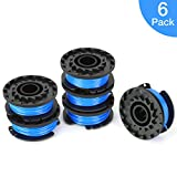 SUERW Line String Trimmer Replacement Spool, [6-Pack] 16ft 0.065'' Autofeed Replacement Spool for Greenworks String Trimmer [6 Replacement Line Spool]