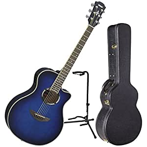 yamaha apx500iii obb acoustic electric guitar oriental blue burst w case and stand. Black Bedroom Furniture Sets. Home Design Ideas