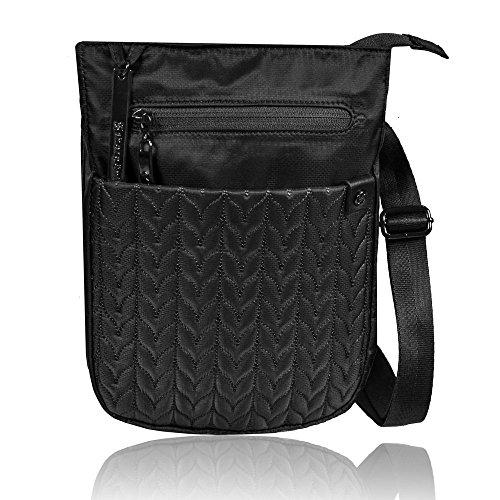 Sherpani Women's Prima Le Cross Body Bag, Black, One Size (Sherpani Wallet Travel)