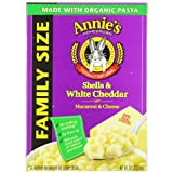 Annie's Homegrown Family-Size Shells & White Cheddar Mac & Cheese 10.5 Ounce