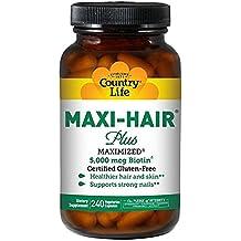 Country Life - Maxi-Hair Plus with 5000 mcg of Biotin - 240 Vegetarian Capsules