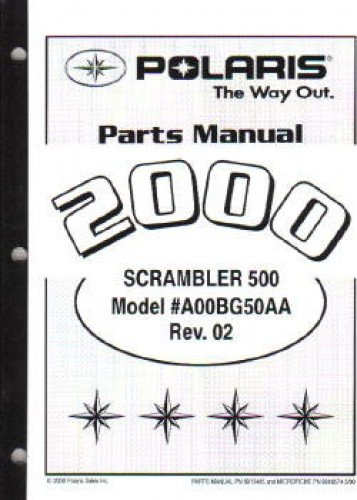 9915485 2000 Polaris Scrambler 500 4X4 Parts Manual