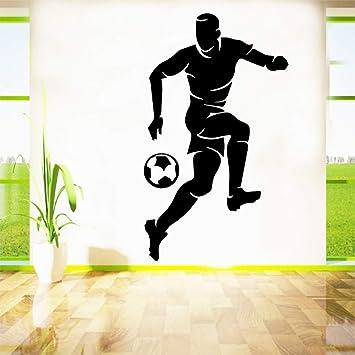 Diy pelota de fútbol a prueba de agua pegatinas de pared decoración para el hogar decoración