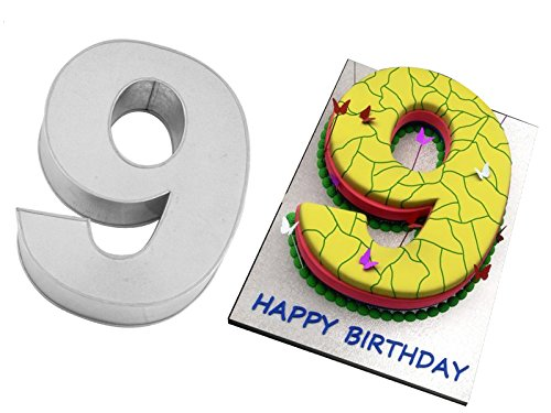 Small Number Nine 9 Wedding Birthday Anniversary Cake Baking Pan / Tin 10