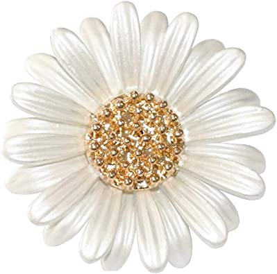 Vintage Jewelry Flower Jewelry Vintage Daisy Brooch Mothers Day Gift Pin Vintage Gold Plated and Enamel Daisy Pin Gift for Her