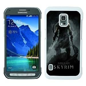 Newest Samsung Galaxy S5 Active Case ,the elder scrolls v skyrim dragonborn warrior skyrim sword helmet White Samsung Galaxy S5 Active Cover Case Hot Sale And Popular Designed Phone Case