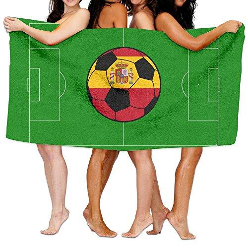 SWEET-YZ Love Spain Soccer Moisture Absorption Bath Towels Beach Towels For Adult & Teen by SWEET-YZ