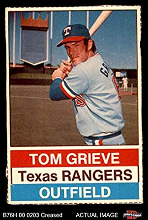Amazoncom 1976 Hostess 130 Tom Grieve Texas Rangers