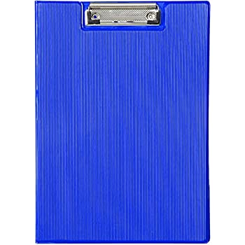 MyLifeUNIT Clipboard Folder with Pocket, Clipboard Padfolio File Folder, Letter Size or A4 Size (Blue)