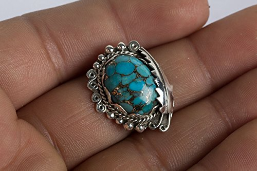 - Blue Copper Turquoise Pendant, 925 Sterling Silver, Tiny Pendant, Modern Design, Most Popular Item, Moroccan Art Pendant, Charm Jewelry, Fiber Art Pendant, Antique Copper, Oval Pendant, Gift For Her