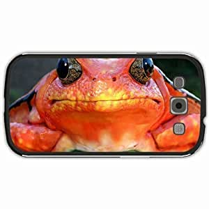 New Style Customized Back Cover Case For Samsung Galaxy S3 Hardshell Case, Black Back Cover Design Frog Personalized Unique Case For Samsung S3