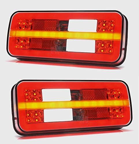 2x Kombination Rücklicht Led Lichter 12v 24v Rücklicht Lkw Anhänger Kipper Wohnwagen Auto