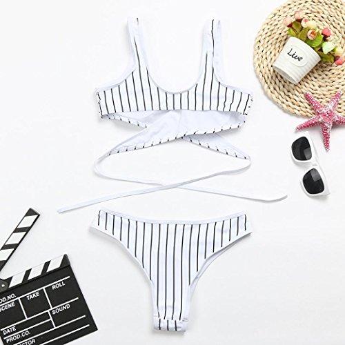 Ensemble Criss Bikini Rembourré Blanc Pieces De Haute Rayé 2 Cross Bain Femme Culotte Maillot Plage Angelof q8Cfx