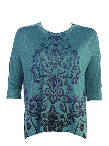 Jess & Jane Women's Loyalty Slinky Knit Side Slit Tunic Top (Medium)