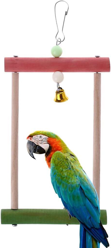 Huafi Escalada Escalera de Madera para el Asiento Jaula, Barra, Juguete para pájaros, Loros, Onda Loros, Loros, NINFA Loros, Agapo RNIS, fringillidae, Gris Loros, aras: Amazon.es: Productos para mascotas