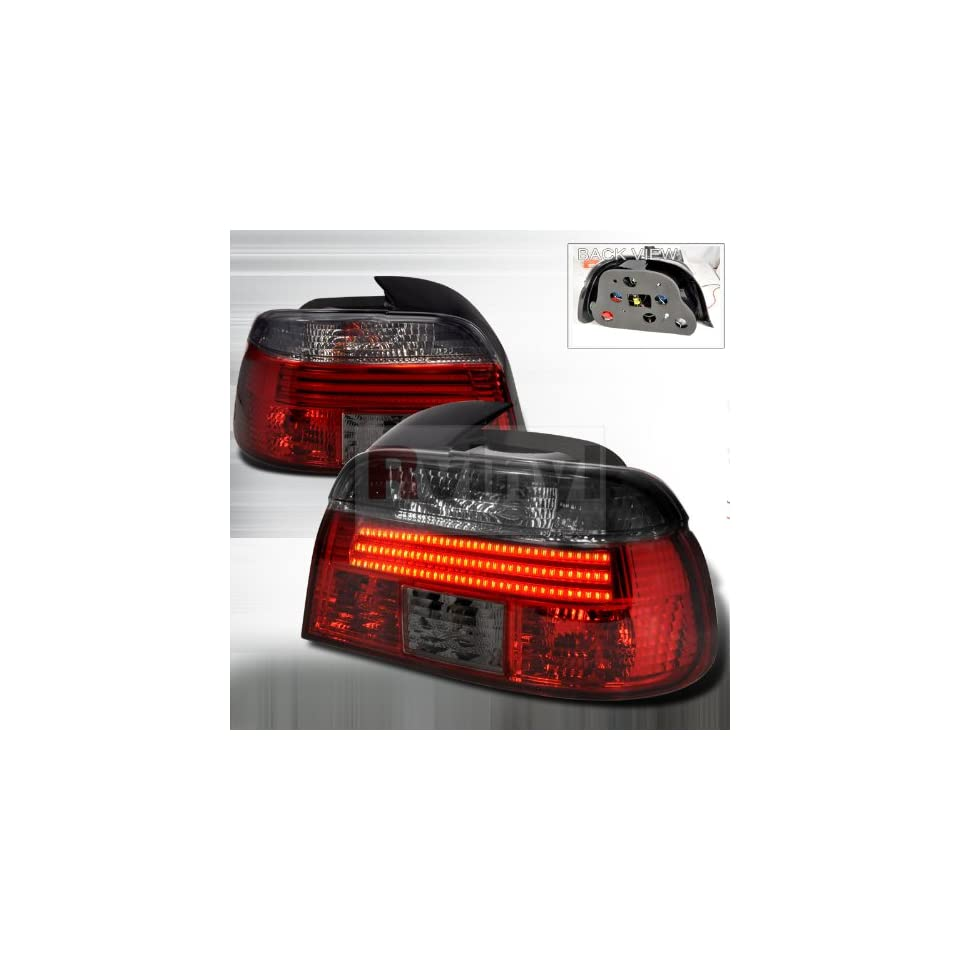 Spec D Tuning LT E394RG F2 APC Bmw E39 4 Dr 528I 540I M5 LED Red Smoked Lens Tail Lights